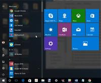 menu start di windows 10 anniversary
